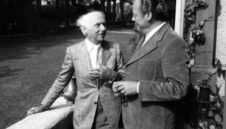 Max Ernst mit Willy Brandt