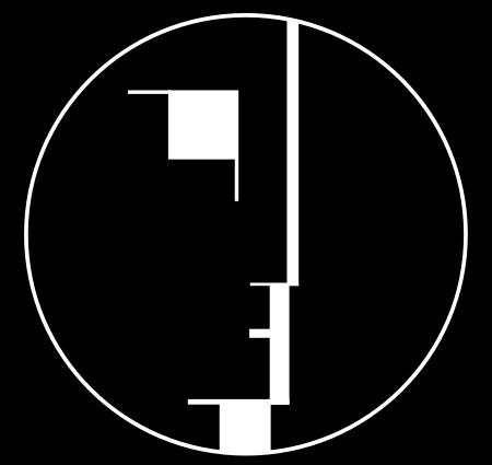 Das Bauhaus-Logo, 1922 entworfen von Oskar Schlemmer